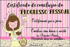 Moças SUD - ESTACA RECIFE CASA AMARELA: Certificado CONCLUSÃO do Progresso Pessoal