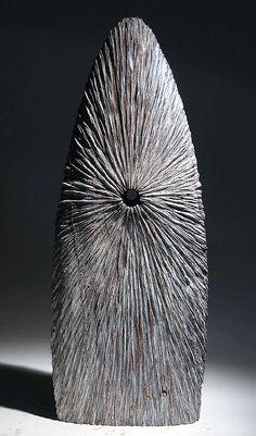 """Christophe Nancey ~ """"Inside Light 2"""" ~ Oak - Wood Sculpture"""
