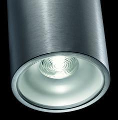 nado R . outside luminaire . Außenleuchte . ceiling luminaire. Deckenleuchte . aluminium brushed, anodized . Aluminium gebürstet, eloxiert . LED