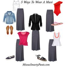 4th of July...Wear a maxi skirt! Cover your legs...yet be cool and stylish!