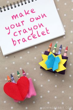 DIY Make Your Own Crayon Bracelet for Kids | Crayon Storage Ideas via @joannstores | DIY Cuff Tutorial from @mesewcrazy
