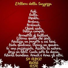 Buon Natale albero di saggezza Christmas Time, Christmas Crafts, Merry Christmas, Free Cross Stitch Charts, Positive Art, New Years Eve Party, Xmas Tree, Holidays And Events, Happy New Year
