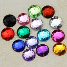 Non Hotfix 6mm 8mm 10mm 12mm 14mm 5 Size For Choice Mix Colors Sewing On Acrylic Rhinestones