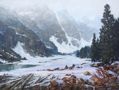 Canadian Artist Jean Geddes is a featured artist at the mountain galleries at the fairmont. Jean's paintings are available. Snow Images, Snow Covered Trees, Spring Landscape, Landscape Paintings, Landscapes, Mountain Paintings, Canadian Artists, Evergreen, Cascades
