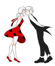 Marinette & Adrien kissing