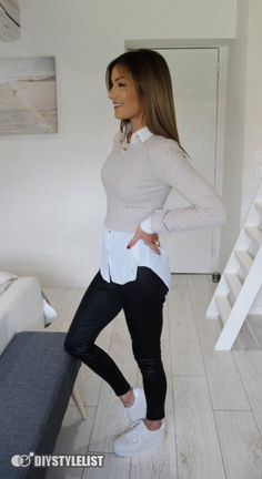 Outfits Nachstylen, Casual Work Outfits, Business Casual Outfits, Work Attire, Work Casual, Stylish Outfits, Casual Wear, Cute Legging Outfits, Fall Office Outfits