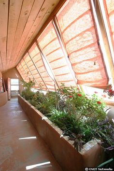 Blinds for greenhouse to decrease heat in summer.
