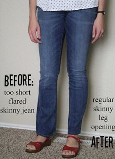 Skinny Jeans Refashion