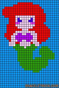 Ariel Princess perler bead pattern