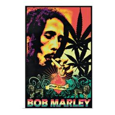 Bob Marley One Love Velvet Blacklight Poster - Turn down the lights and enjoy this One Love Bob Marley Velvet Blacklight poster. With dimensions at 23 x 35, it'll be hard to take your eyes off.