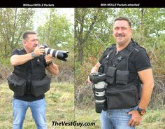 Camera Vest  Photography Vests is Made in the USA, designed to carry 1 or 2 Cameras,  plenty of pockets for Lens, Filters, Batteries, Memory Cards, Teleconverters, Water, Telephoto Lens, Wide Angle Lens, Breathable Mesh Camera Vest, Great for Wildlife Photographers, Sports Photographers, Outdoor Photographers...  Great for trips to Africa, Alaska Photo Tours, Costa Rica Trips, Yellowstone Tours, Tetons Trips...