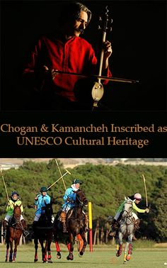 Iranian Polo game, Chogan, a traditional horse-riding game, along with art of crafting and playing with Kamancheh, a bowed string musical instrument, was added to the list of Intangible Heritage of UNESCO in December 2017. #rediscoverIran #Travel #Iran #Chogan #polo  #Kamancheh #unesco