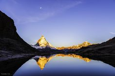 The Might Matterhorn reflected in Switzerland. This breathtaking sunrise photo was taken by National Geographic's own Jonathan Irish...