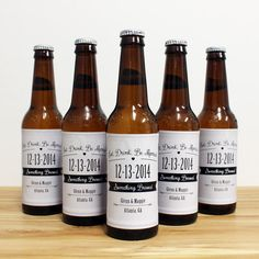 Custom Beer Bottle Labels Personalized Wedding by LiquidCourage, $18.00