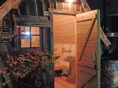 rustic saunas in homes Rustic Saunas, Sauna House, Outdoor Sauna, Sauna Design, Play Houses, Building Design, Shed, Cottage, Backyard