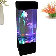 Led Box Water Ball Aquarium Tank Mini Fish Light Jellyfish Lamp Relax Bedside Cabinet Lighting Night Mood Lights Decoration New Fine Workmanship Lights & Lighting