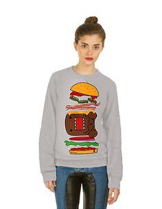 Domo Burger Pop Art Unisex Sweatshirt by IDILVICE Fashion.