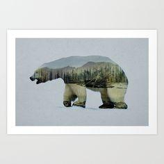 The Arctic Polar Bear Art Print by Davies Babies - $21.99