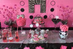GlamFunk, zebra, pink Birthday Party Ideas | Photo 5 of 14 | Catch My Party