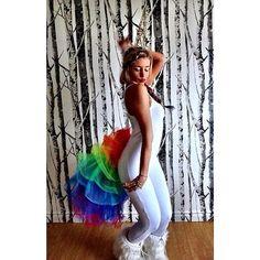 Tutu rainbow tail to match rainbow hair/mane... Fluffy Unicorn