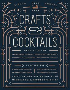 Crafts & Cocktails on Behance