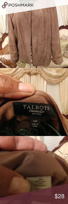 Ladies Suede Jacket Ladies Brown cluff sleeve. Suede Jacket Talbots Jackets & Coats Blazers