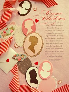 some silhouette stationery would make the date so personalized and sweet!  also love the vintage aesthetic