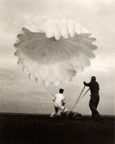 "Margaret Bourke-White photograph. From the book ""Twenty Parachutes"""