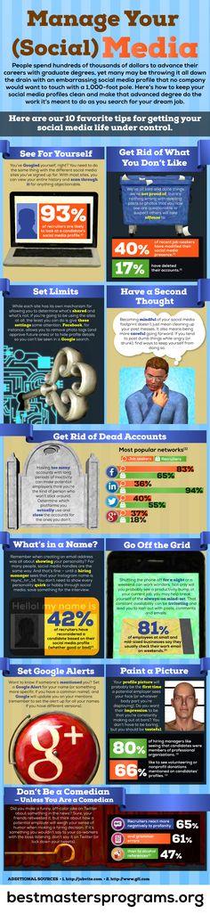 Manage your social media #infografia #infographic #socialmedia