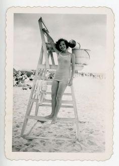 #vintage #beach #1950s