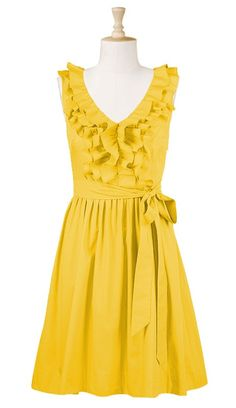 It would flatter all of their body types nicely and is something they could easily reuse on a summer day. Honestly this is the first yellow Bridesmaids dress I have loved and will be looking for it in stores or online.    I love this one!