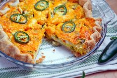 Jalapeno Popper Quiche.