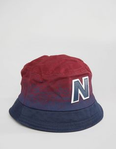 New Balance Graduated Bucket Hat In Red