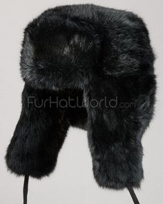 Faux Fur Russian Ushanka Hat - Black Hats For Men b6b53dab5a65