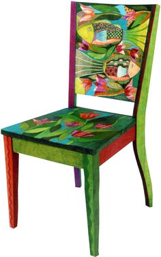 Decorated CHAIR - The art of Helen Heins Peterson
