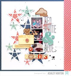 On pinterest scrapbook pages fourth of july and scrapbook layouts - Layouts Patriotic On Pinterest Fourth Of July Layout