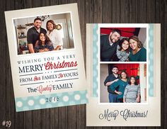 2 Sided Photo Holiday/Christmas Card by SweetTeaSpecialties
