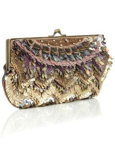 Feather Sequin Clutch - never before have I been such a fan of clutches