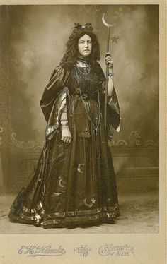 Victorian witch fancy dress. c.1885.