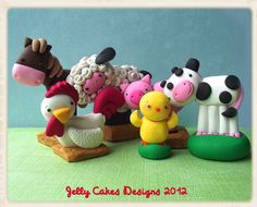 Day on the Farm Cake Topper set
