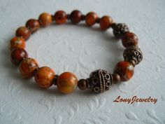 Colors of Autumn & Orange Jasper by LonyJewelry on Etsy
