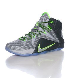 0e927e374666 NIKE Lebron James Brand new Lebron 12 model Flywire tech detail NIKE swoosh  on toe Heel straps Icy sole Inner zoom cushioning for ultimate comfort