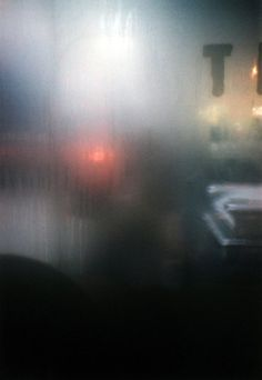 The mist of the fens comes to other locations with winter-time condensation on windows - Saul LEITER, 1959
