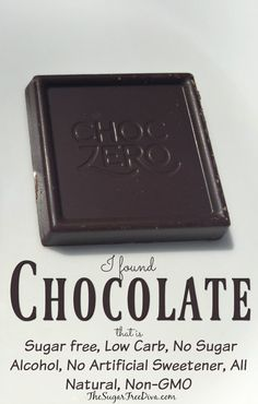 Chocolate that is Sugar free, Low Carb, No Sugar Alcohol, and more!