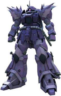 "The MS-08TX/N Efreet Nacht (""Nacht"" is German for ""Night"") is a variant of the MS-08TX Efreet. It first appeared in the video game Mobile Suit Gundam: Battlefield Record U.C. 0081. The MS-08TX/N Efreet Nacht is equipped with a jamming system which causes any detectors, radar, thermal sensing devices within an area of five square kilometers around it to malfunction. The Zeon Earth Attack Force increased the armor of the Efreet Nacht to make sure there is no interf..."
