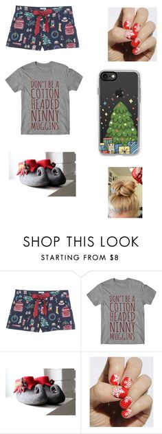 """christmas pajamas"" by harleyjones-1 ❤ liked on Polyvore featuring Fat Face, SoGloss and Casetify"