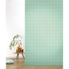behangpapier Grid Pastelgreen - Roomblush