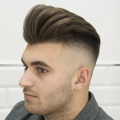 Haircut and hairstyle by Pompadour Hairstyle, Undercut Hairstyles, Men's Haircuts, Haircuts For Men, Modern Pompadour, Mens Hairstyles With Beard, Hairstyles 2016, Great Hair, Freshman