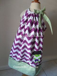 NEW Incredible Hulk Inspired Purple chevron and green polka dot pillowcase dress. Perfect for a birthday party. Baby toddler little girls.Marvel Avengers Captain America Ironman Thor