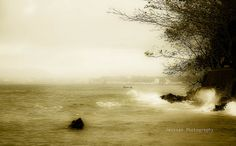 Fog at Manado beach